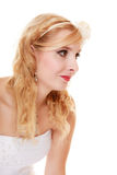 Wedding. Young attractive romantic bride woman Stock Photography