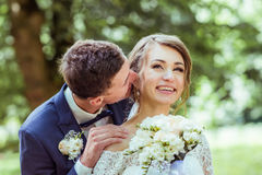 Wedding young couple Royalty Free Stock Photography