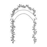Wedding zendudl. Wedding arch. Wedding card. Royalty Free Stock Photo