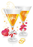 WeddingChampagne Stock Afbeelding