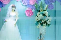 Weddingdress projekta przedstawienia szafa Zdjęcie Stock