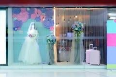 Weddingdress projekta przedstawienia szafa Zdjęcia Royalty Free