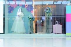 Weddingdress projekta przedstawienia szafa Fotografia Royalty Free