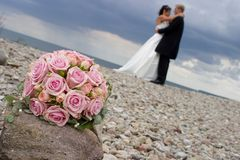 Weddingflowers on a stone. JH royalty free stock photography