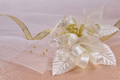 Weddings accessorie a buttonhole Stock Images