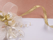Weddings accessorie a buttonhole Royalty Free Stock Photo
