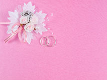 Weddings accessorie a buttonhole Royalty Free Stock Images