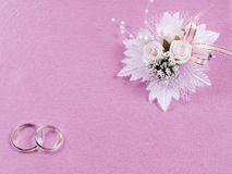 Weddings accessorie a buttonhole Stock Photos