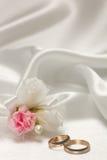 Weddings accessorie a buttonhole Stock Photos