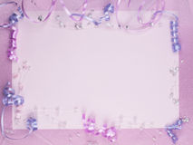 Weddings accessorie on a card Royalty Free Stock Images