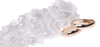 Weddings accessorie and rings Royalty Free Stock Images