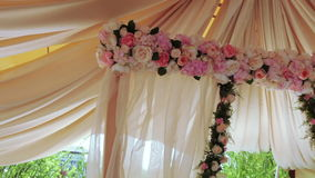 Weddings ceremony at river stock footage