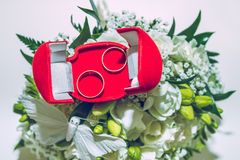 Weddings day, two rings. Stock Image