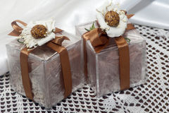 Weddings favors with home made cosmetics Stock Photography