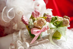 Weddings fawors whit soap flower Royalty Free Stock Images