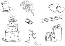 Weddings illustration Stock Images