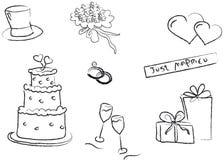 Weddings illustration Stock Images