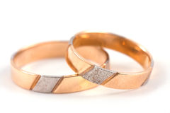 Weddings rings. Isolated on a white background Royalty Free Stock Photo