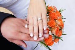 Weddings rings Stock Images