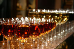 Weddings Tall Wine Glasses. Gap-filling and wait guests stock image