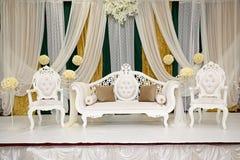 Weddingstage för grön guld Royaltyfria Foton