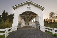 Weddle Covered Bridge Over Ames Creek Royalty Free Stock Image