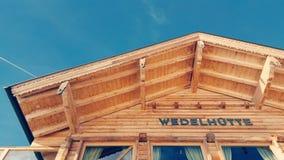 Wedelhuette Zillertal Stock Images