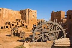 Wederopbouw van de hoofdstad van Gouden Horde sarai-Batu royalty-vrije stock afbeeldingen