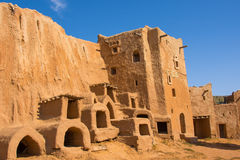 Wederopbouw van de hoofdstad van Gouden Horde sarai-Batu royalty-vrije stock fotografie