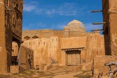 Wederopbouw van de hoofdstad van Gouden Horde sarai-Batu royalty-vrije stock foto's
