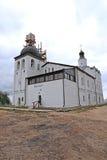 Wederopbouw van de Sergeevskaya-kerk in Sviyazhsk Stock Foto