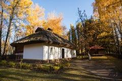 Wederopbouw van een mensenwoning in pereyaslav-Khmelnitsky, de Oekraïne royalty-vrije stock afbeeldingen