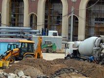 Wederopbouw van het Dynamostadion in Minsk stock afbeeldingen