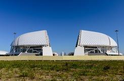 Wederopbouw van het Olympische stadion Fisht Stock Fotografie