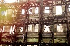 Wederopbouw van het oude gebouw Stock Fotografie