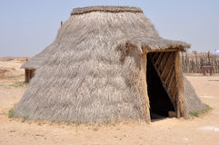 Wederopbouw van Neolithisch Huis Royalty-vrije Stock Afbeelding
