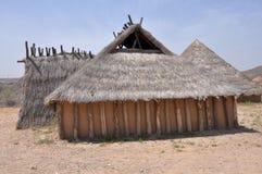 Wederopbouw van Neolithisch Huis Royalty-vrije Stock Fotografie