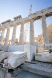 Wederopbouw van Parthenon in Akropolis Royalty-vrije Stock Fotografie
