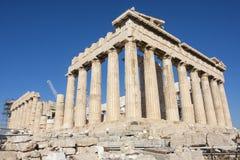 Wederopbouw van Parthenon in Griekenland Stock Foto