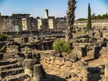 Wederopbouw witte synagoge in Kafarnaum Royalty-vrije Stock Foto's