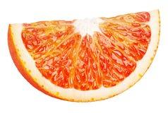 Wedge of blood red orange citrus fruit isolated on white Royalty Free Stock Photography