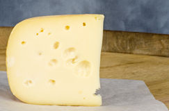 Wedge of Cheese with Holes #1 Stock Images