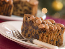 Wedge of Dundee Cake Royalty Free Stock Images