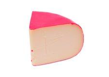 Wedge of gouda cheese stock photo