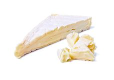 Wedge of Gourmet  Brie Cheese Stock Photos