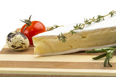 Wedge of Gourmet Brie Cheese Stock Photo