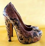 Wedge highheel shoes Stock Photo