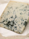 Wedge of Leicestershire Stilton Cheese. Close up on Wedge of Leicestershire Stilton Cheese Stock Photo