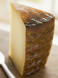 Wedge of Manchego Cheese royalty free stock photos