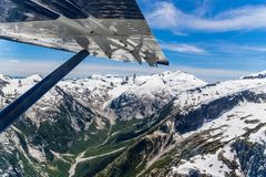 Wedge Mountain aerial view with blue sky royalty free stock photos